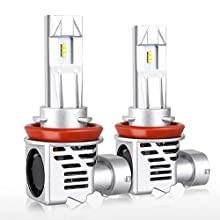 9006 LED Headlight Bulbs, LINKSTYLE 1:1 Design HB4 All-in-one Conversion Kit Wireless Headlight with 12000LM/Per Set ZES chip 6500K Cool White 26W Per Bulb