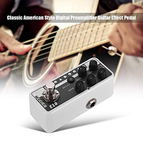 Kalaok MICRO PREAMP Series 013 MATCHBOX Classic American Style Digital Preamp Preamplifier Guitar Effect Pedal Dual Channels 3-Band EQ with True Bypass
