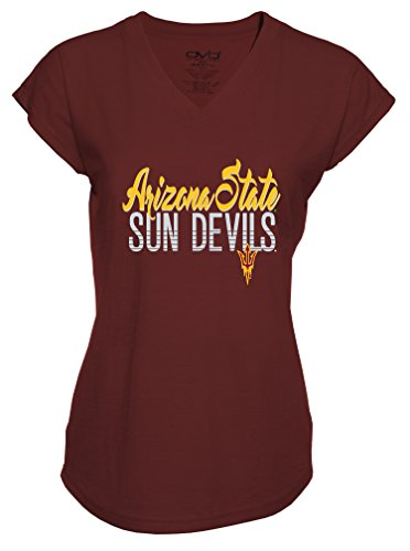 Ncaa Arizona State Sun Devils Ladies Tri Blend V Neck T Shirt  Large  Athletic Maroon