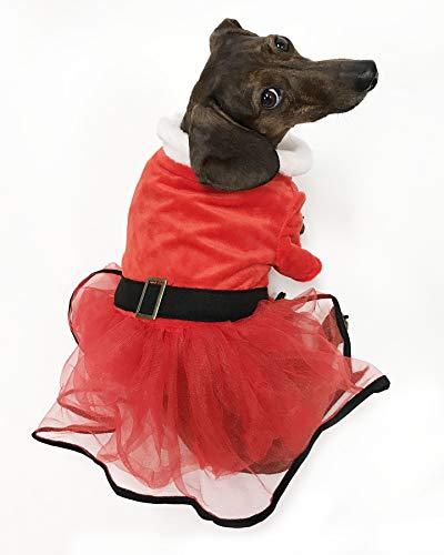 Midlee Mrs. Claus Santa Tutu Dog Dress (XXX-Large)