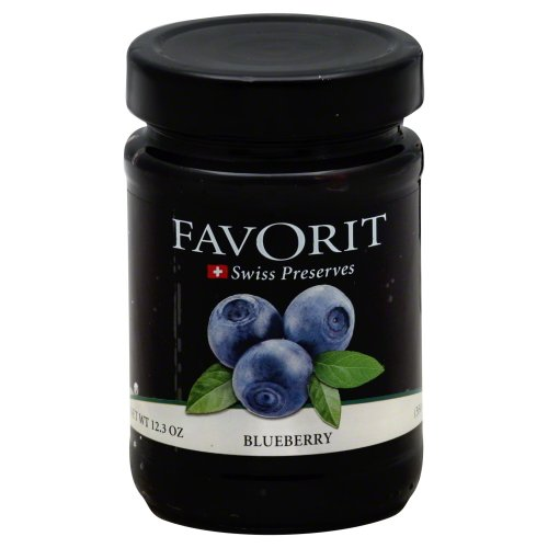 Favorit Preserves, Blueberry, 12.30-Ounce (Pack of - Favorit Cherry Red