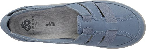 CLARKS Womens Sillian Stork Fisherman Sandal, Blue/Grey Synthetic Nubuck, 7 Narrow US