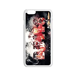 Chicago Bulls NBA White Phone Case for iPhone 6 Case