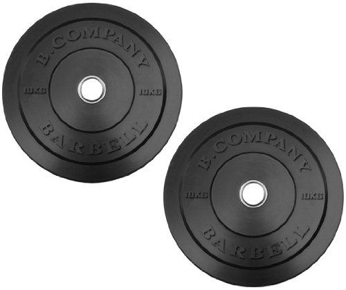 Olympia Vollgummi Hantelscheiben 50/51mm - 2 x 10 Kg Full-Solid-Rubber-Bumper-Plates