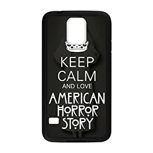 Hot TV Series AHS Keep Calm and Love American Horror Story Cover Case for Samsung Galaxy S5 (Laser Technology)