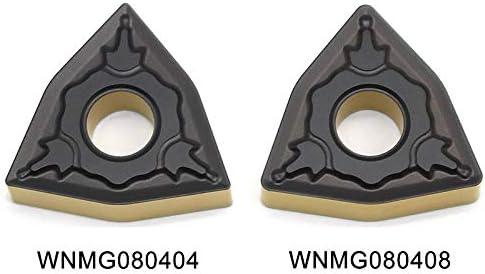 Txrh Drehbank WNMG080404 WNMG080408 PM PC4225 Karbid-Einsätze Drehwerkzeuge Hartmetall Externe Drehwerkzeug CNC-Schneidwerkzeuge (Angle : 100pcs(10box, Insert Width(mm) : WNMG080404 PM PC4225)