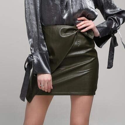 MIBKLPG Faldas para Mujer Mini Faldas Cruzada De Cuero De Cintura ...