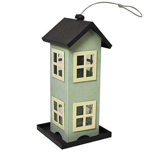 Heath Outdoor Products 21525 The Townhouse Decorative Feeder with 4-Feeding Ports Holds Up to 2-Pounds of Seed by Heath Outdoor Products