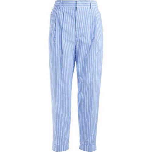 MAISON MARGIELA Pantalone MM6 twill rayé avec revers