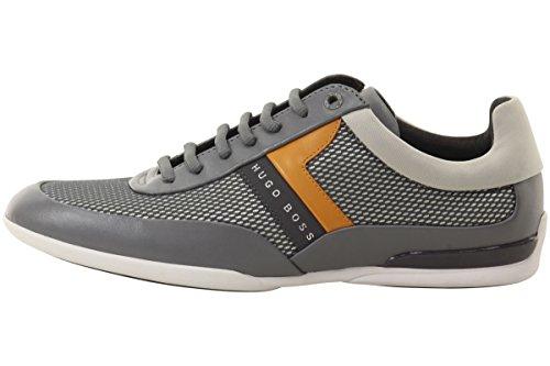 Hugo Boss Mens Space Medium Grijs Mesh Sneakers Schoenen Sz: 11