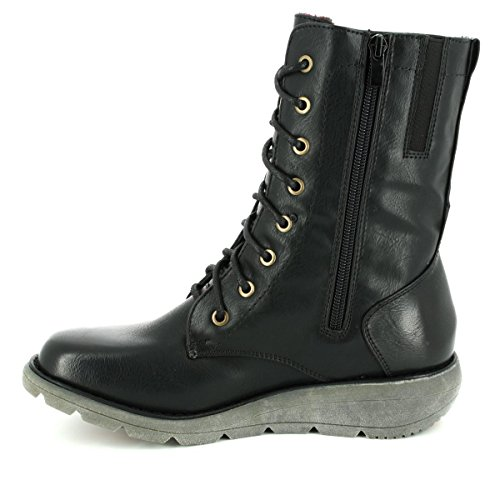 2 Heavenly Feet Walker Mid Boots Black WZRvZ