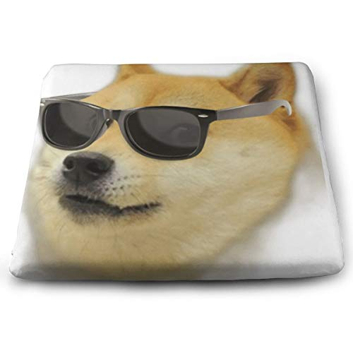 Comfortable Seat Cushion Chair Pad Sunglass Doge Head Perfect Memory Foam Cushions Lighten The Bumps]()