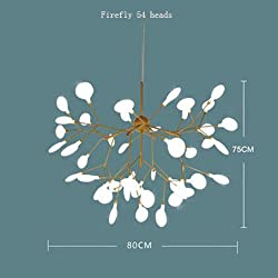 Sputnik Firefly Chandelier Led Pendant Lighting Ceiling Light Fixture Hanging Lamp By Luolax (Firefly 54 heads, 31.49''29.52'')