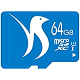 FATTYDOVE 64GB Microsd Card High Speed Up to 80MB/s SDXC Memory Card with Adapter for Smartphones Tablet PCs (64GB U1)