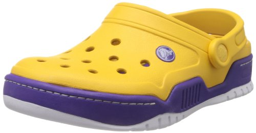 Crocs Men's 14300 Front Court Clog, Canary/Ultraviolet, 9 M US