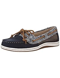 Sperry Women's FIREFISH CANVAS SAND PRINT Boat Shoes