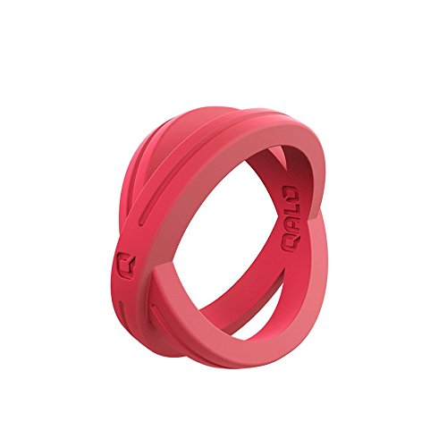 (Women's Coral Crossover Silicone Ring Size 06)