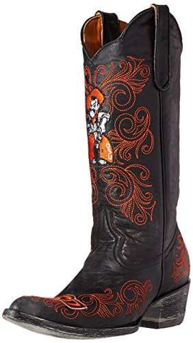 NCAA Oklahoma State Cowboys Women's 13-Inch Gameday Boots, Black, 7.5 B (M) US