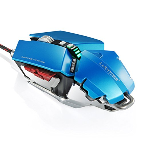 YCCTEAM Gaming mice,4000 DPI 10 Buttons LED Optical USB Wired Professional Gaming Mouse, Mechanical Game Mice Support Macro Programming- Royal Blue by YCCTEAM