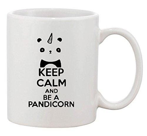 Keep Calm And Be A Pandicorn Panda Unicorn Funny Ceramic White Coffee 11 Oz Mug