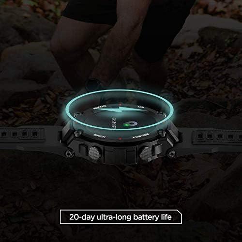 "Amazfit T-Rex Smartwatch, Military Standard Certified, Tough Body, GPS, 20-Day Battery Life, 1.3"" AMOLED Display, Water Resistant, 14-Sports Modes, Khaki (W1919US2N) 41lpWmOH PL"