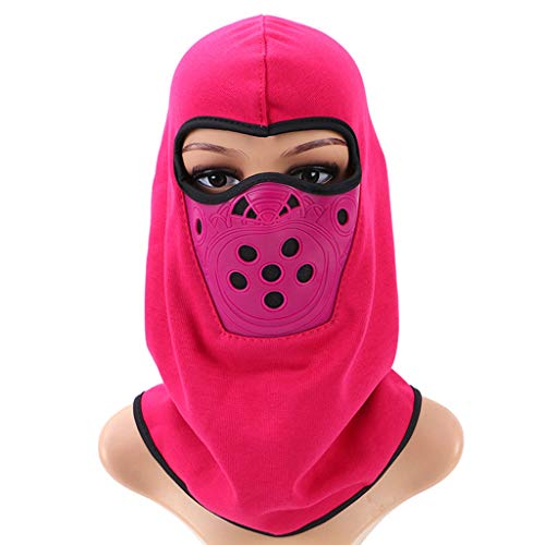 Vovomay Riding Headgear Sports Head Mask for Cycling Hiking Climbing Mountaineering (Rose Red) ()
