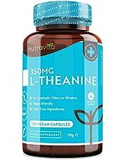 L-Theanine 350 mg - L-theanine-capsules met hoge concentratie - 120 vegan capsules - 4 maanden voorraad - Gemaakt in het VK door Nutravita