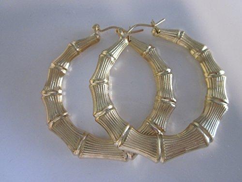 bamboo door knocker earrings - 8