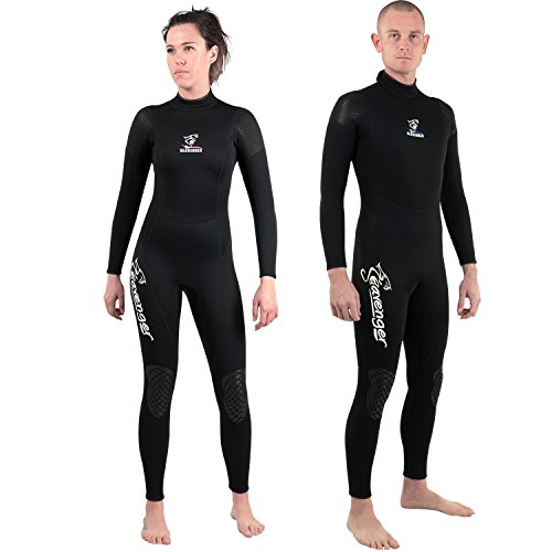 Seavenger 3mm Full Suit Flatlock Stitching Jumpsuit with super-stretch armpit Men/Women Wetsuits (Men's Size M)