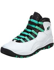 Nike Jordan Gradeschool 10 Retro 30th BG White/Black/Infrared 23/Verde 705180-118 7