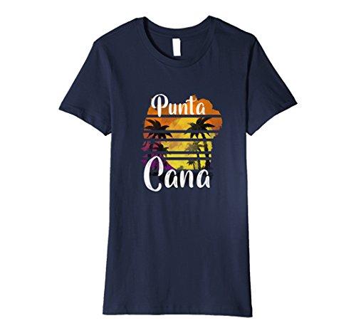 Punta Cana Dominican Republic (Womens Punta Cana Dominican Republic Souvenir Premium T-shirt Medium Navy)