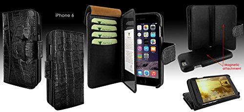 Piel Frama 716 Black Crocodile WalletMagnum Leather Case for Apple iPhone 6 / 6S by Piel Frama (Image #5)