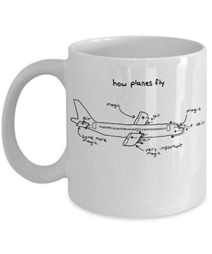 Aerospace Engineer, Gift For Pilot, Pilot Gifts, Pilot Mug, Mug For Pilots, Engineer Mug. How Planes Fly, Funny Pilot Mug