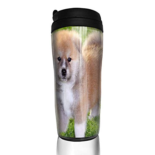 Akita Porcelain - Bei Tang Coffee Cup Japanese Akita Inu Dog Travel Tumbler Insulated Leak Proof Drink Containers Holder Inspiring 12 Ounces