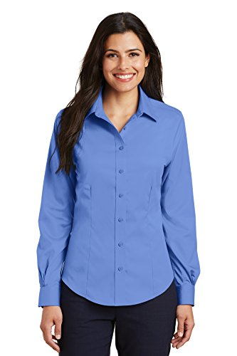 Port Authority Ladies Non-Iron Twill Shirt. L638 Ultramarine Blue 4XL ()