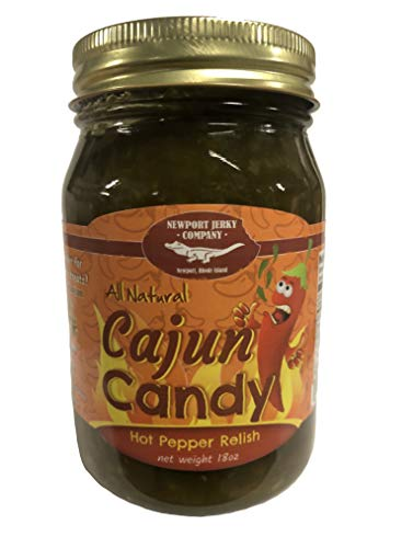 (All Natural Cajun Candy Hot Pepper Relish (Jalepenos, Onions, Garlic) 18 Ounces)