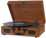 Raveo Vitrola com USB e Bluetooth, Sonetto Wood, 10W, marrom