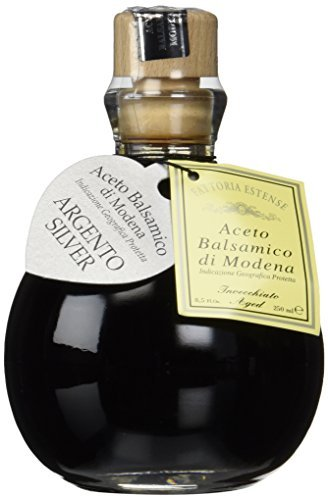 Balsamico Vinegar (Fattoria Estense Silver Label Aceto Balsamico Di Modena Vinegar, 8.5 Fluid Ounce)