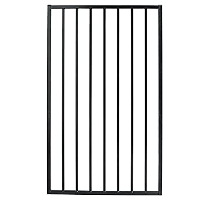 US Door & Fence Pro Series 3 ft. W x 5 ft. H Black Steel Fence Gate - Easy to install