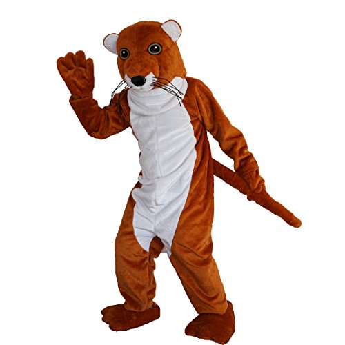 Brown Weasel Stoat Mascot Costume Cartoon Character Adult Sz Real Picture -