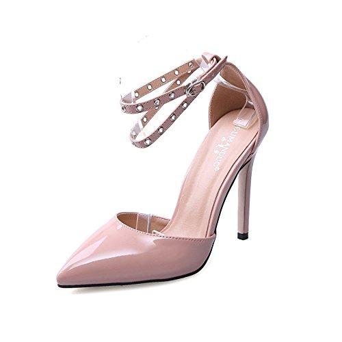 alto e scarpe a scarpe black europee da cave tacco RUGAI con Sandali sexy UE punta sandali punte col americane donna xgz8pqT