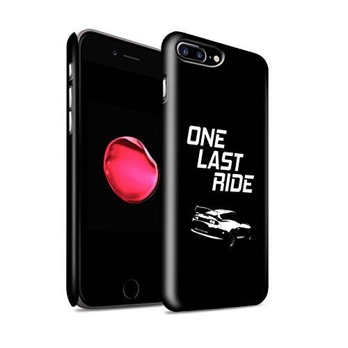 STUFF4 Matte Hard Back Snap-On Phone Case for Apple iPhone 7 Plus/One Last Ride Design/Street Car Racing Collection