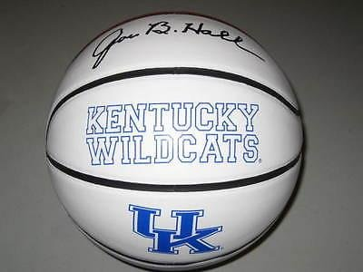 Joe B. Hall Kentucky Wildcats Signed Logo Basketball PROOF 1978 National Champs - Autographed College Basketballs