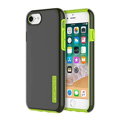 Volt Case - Incipio DualPro iPhone 8 & iPhone 7/6/6s Case with Shock-Absorbing Inner Core & Protective Outer Shell for iPhone 8 & iPhone 7/6/6s - Smoke/Volt