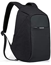 Anti-Theft Travel Backpack Business Laptop Book School Bag with USB Charging Port for Student Work Men & Women by Oscaurt Grey Black Black