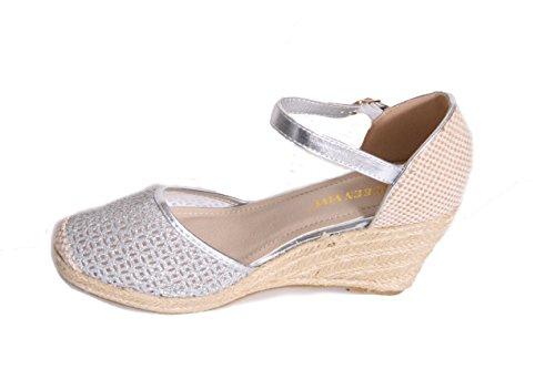 Mojoshu - Zapatos de tacón  mujer plata