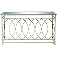 Deco 79 67077 Metal Mir Console Table, 54 x 32