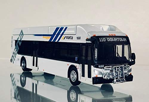 New Flyer Excelsior Model Bus HO Scale Diecast Marta Atlanta 1:87 Scale