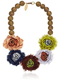 """Lenora Dame """"Retro"""" A Rose is a Rose is a Rose Statement Necklace, 18"""""""