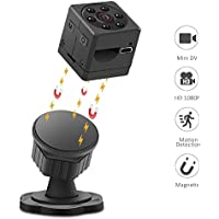 WIRKE Mini Hidden Spy Magnetic Camera,1080P HD Portable Video & Photo Recorder Security camera with Night Vision/Motion Detection/Recording USB Camera for Office,Home & Car(Support 32GB Micro SD Card)